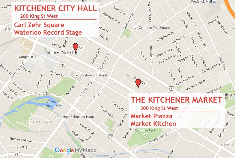 Kitchener Map