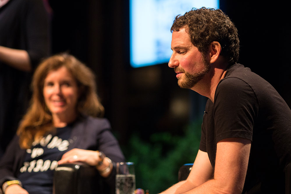 Kenneth Oppel at the Amazon.ca Bestsellers Stage. Photo Cr. Samantha Falco.
